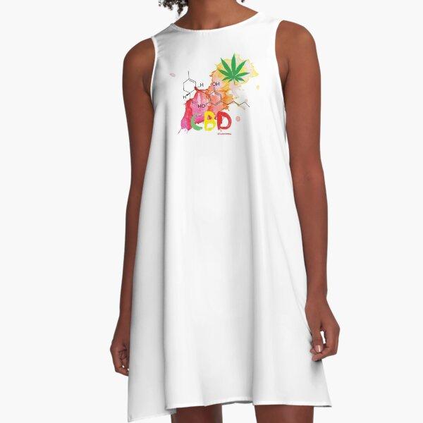 CBD Splash A-Line Dress
