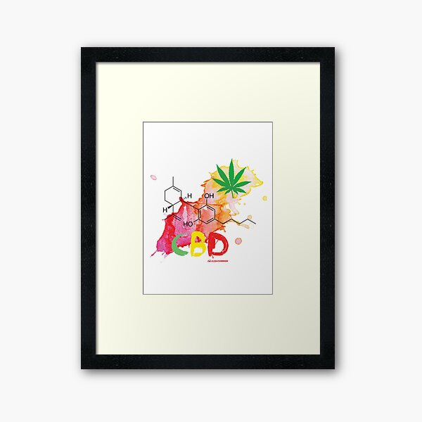 CBD Splash Framed Art Print