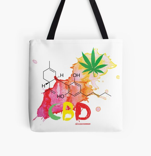 CBD Splash All Over Print Tote Bag