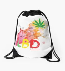 CBD Splash Drawstring Bag