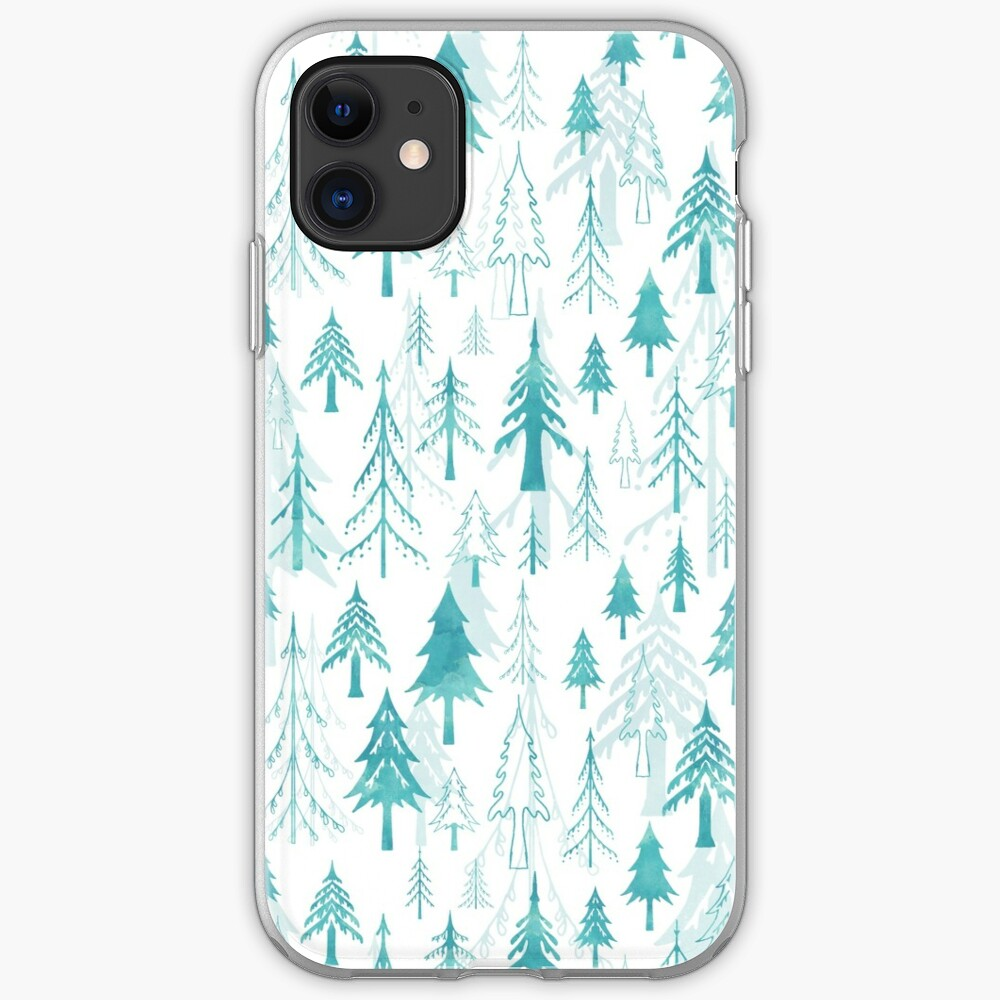 Christmas tree mix on white iPhone Case & Cover