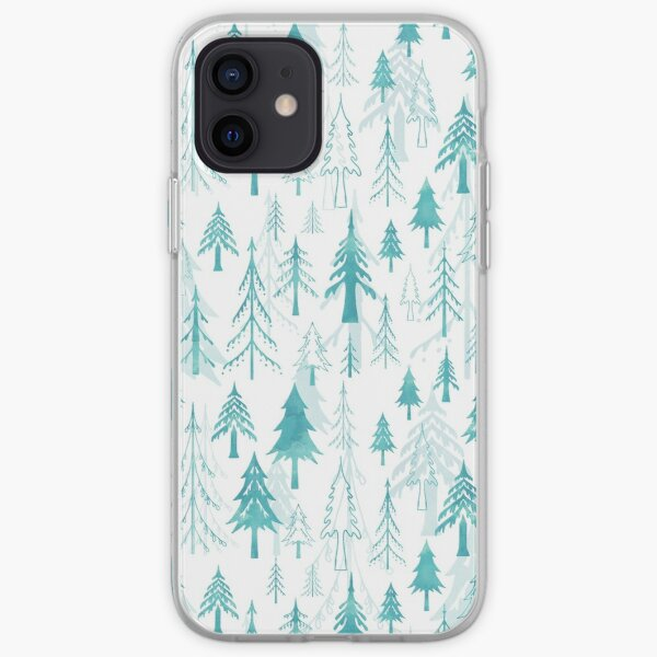 Christmas tree mix on white iPhone Soft Case