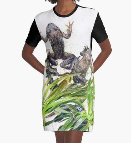 Froggy Furore #2 Graphic T-Shirt Dress