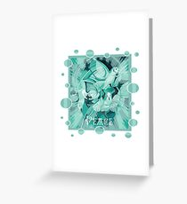 Dove With Celtic Peace Text In Aqua Tones Greeting Card