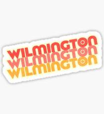 Wilmington, NC   Retro Stack Sticker