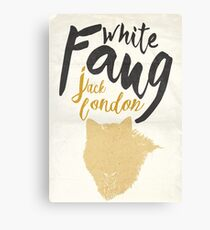 White fang, Jack London, book cover illustration, minimal typography for 1906 adventure american novel, the call of the wild Canvas Print