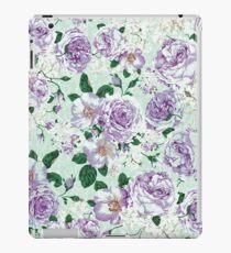 Vinilo o funda para iPad Rosas florales de la acuarela de la lavanda del verde en colores pastel del vintage