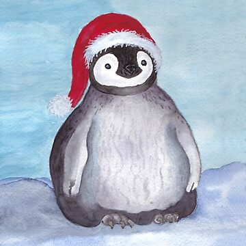 Krinkle Christmas Baby Penguin Cards T-Shirt  by Lallinda