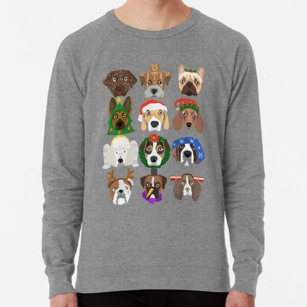 Christmas dogs Lightweight Sweatshirt
