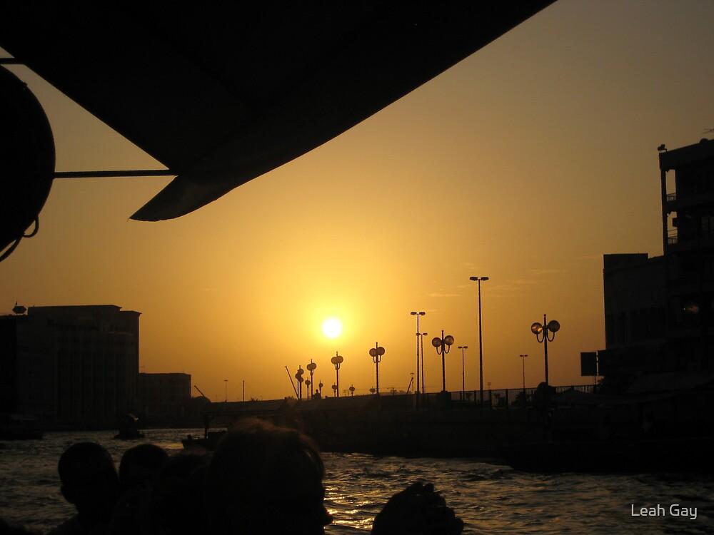 Sunset on Dubai Creek by Leah Gay