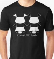 Pissed ØFF Panda Vector Graphic Head Unisex T-Shirt