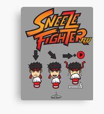 Sneeze Fighter Flu Canvas Print