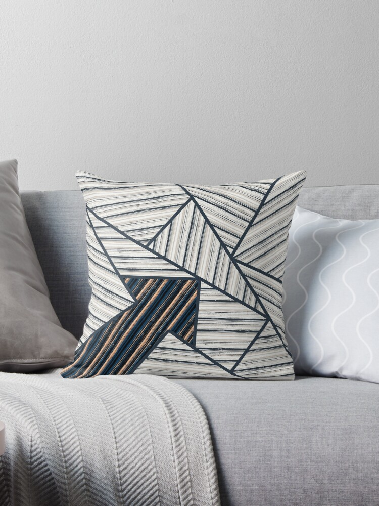 Abstract striped geometric pattern.2 by marinaklykva