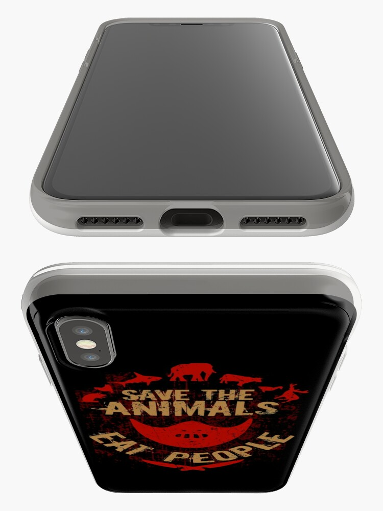 Alternate view of save the animals, EAT PEOPLE iPhone Case & Cover
