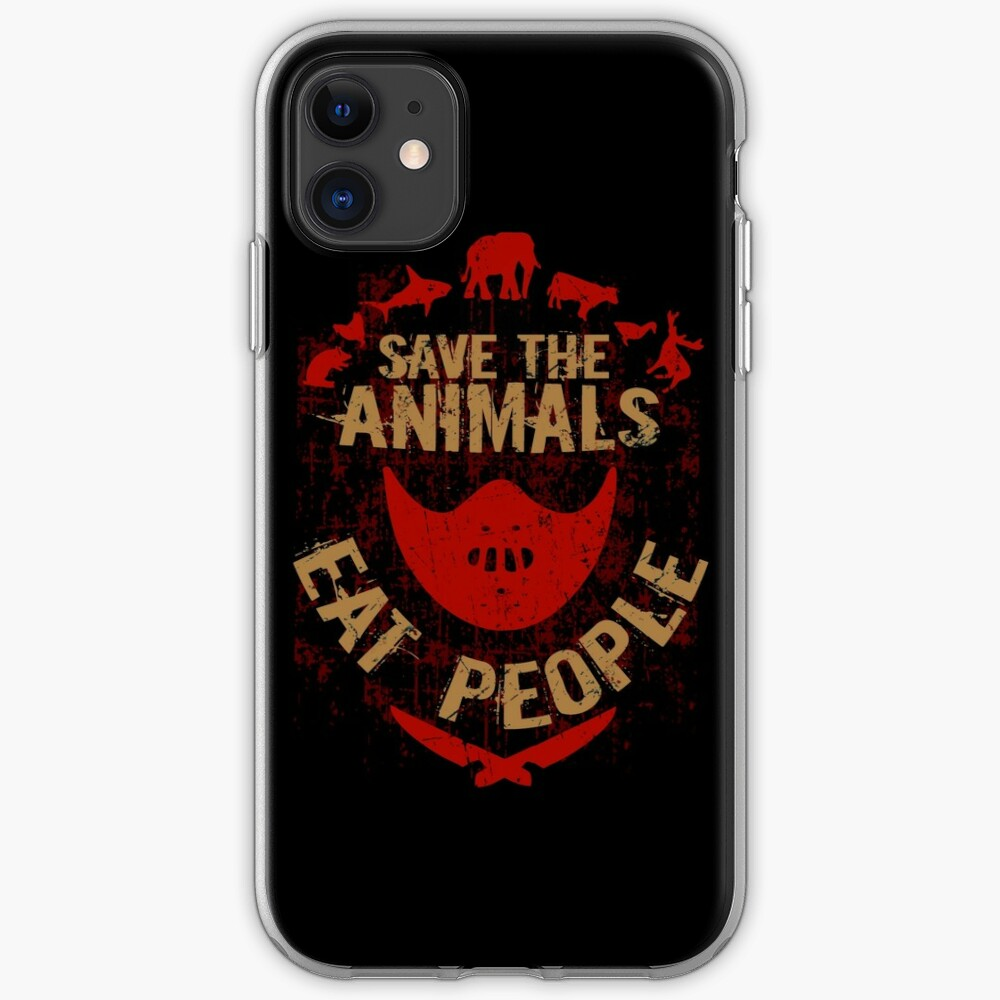 save the animals, EAT PEOPLE iPhone Case & Cover