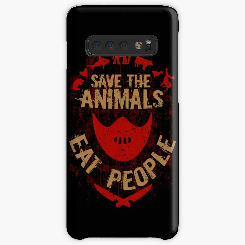 save the animals, EAT PEOPLE Case & Skin for Samsung Galaxy