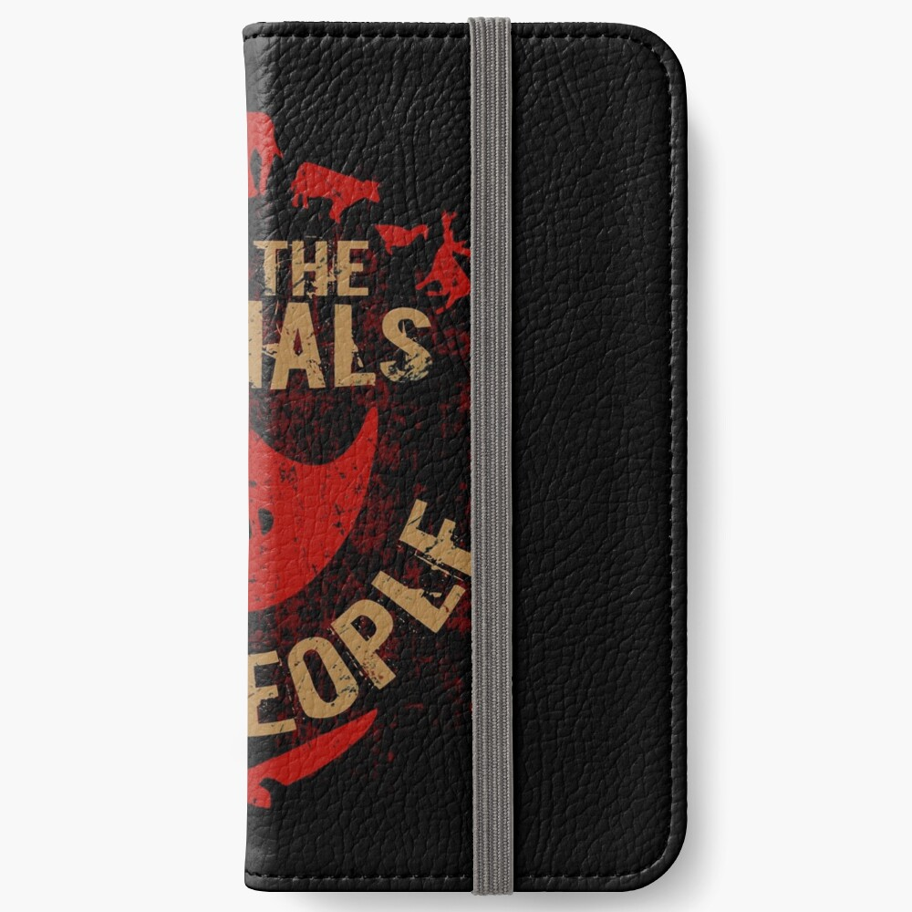 save the animals, EAT PEOPLE iPhone Wallet