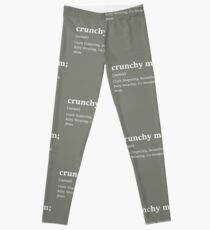 Crunchy Mom Crunchy Mama  Top BreastFeeding Baby shower gift Hippie Mom Life Crunchy (white print) Leggings
