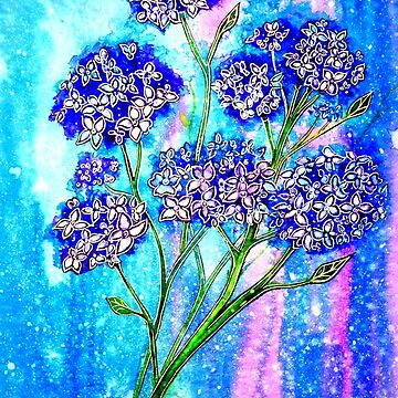 Burst of Spring - Hydrangeas by LindArt1