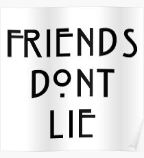 stranger things season episodes Eleven 11 - Freinds Don't Lie  Poster