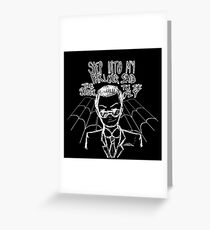 Moriarty - Spider and The Fly Greeting Card