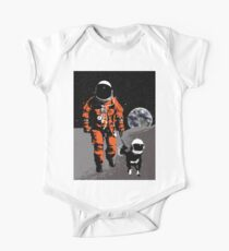 Astronaut walking his dog on the moon One Piece - Short Sleeve