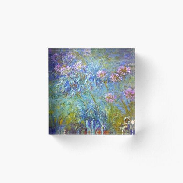 Claude Monet - Agapanthus.  Acrylic Block