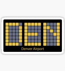 DEN for Denver Sticker