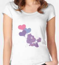 Care Bear with balloons Women's Fitted Scoop T-Shirt