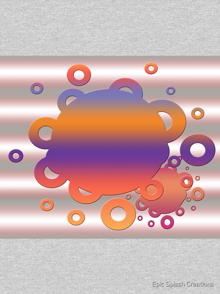 Bubbles in orange and purple by ACoetzer