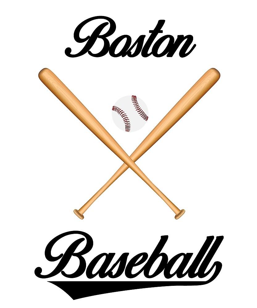 Boston Baseball T-Shirt for Men and Women by AllStarMerch