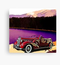 1938 Buick At Lake Tahoe Canvas Print