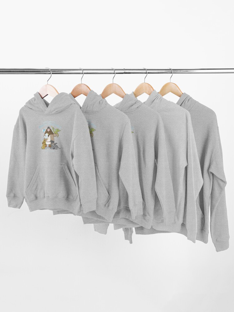 Alternate view of Hagrid's Home for Magical Creatures Kids Pullover Hoodie