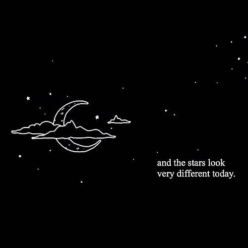 moon and stars quote by morgannnnx