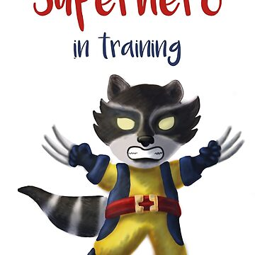 Superhero Racoon: Superhero in Training by inspiredthings