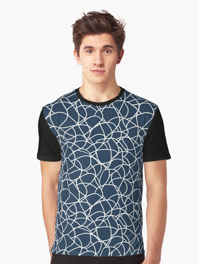 Abstract hand-drawn seamless pattern with wavy lines Graphic T-Shirt Front