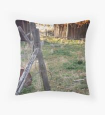 """""""Abandoned Ranch House"""" Throw Pillow"""