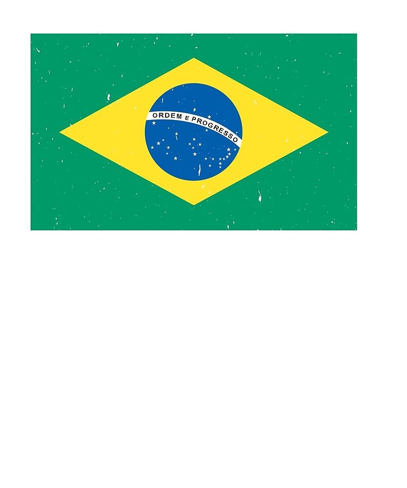 Brazil Flag T-Shirt for Men and Women by AllStarMerch