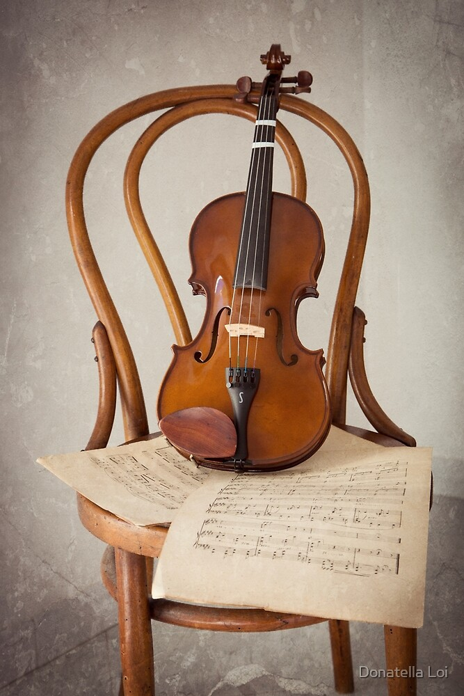 Violin on a chair by DonatellaLoi