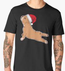 French Bulldog Yoga Santa Cap Tshirt  Men's Premium T-Shirt