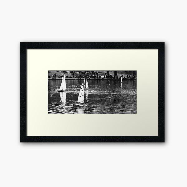 Toy Boats in Central Park Framed Art Print