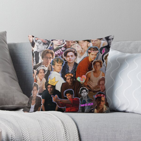 Cole Sprouse Collage Throw Pillow