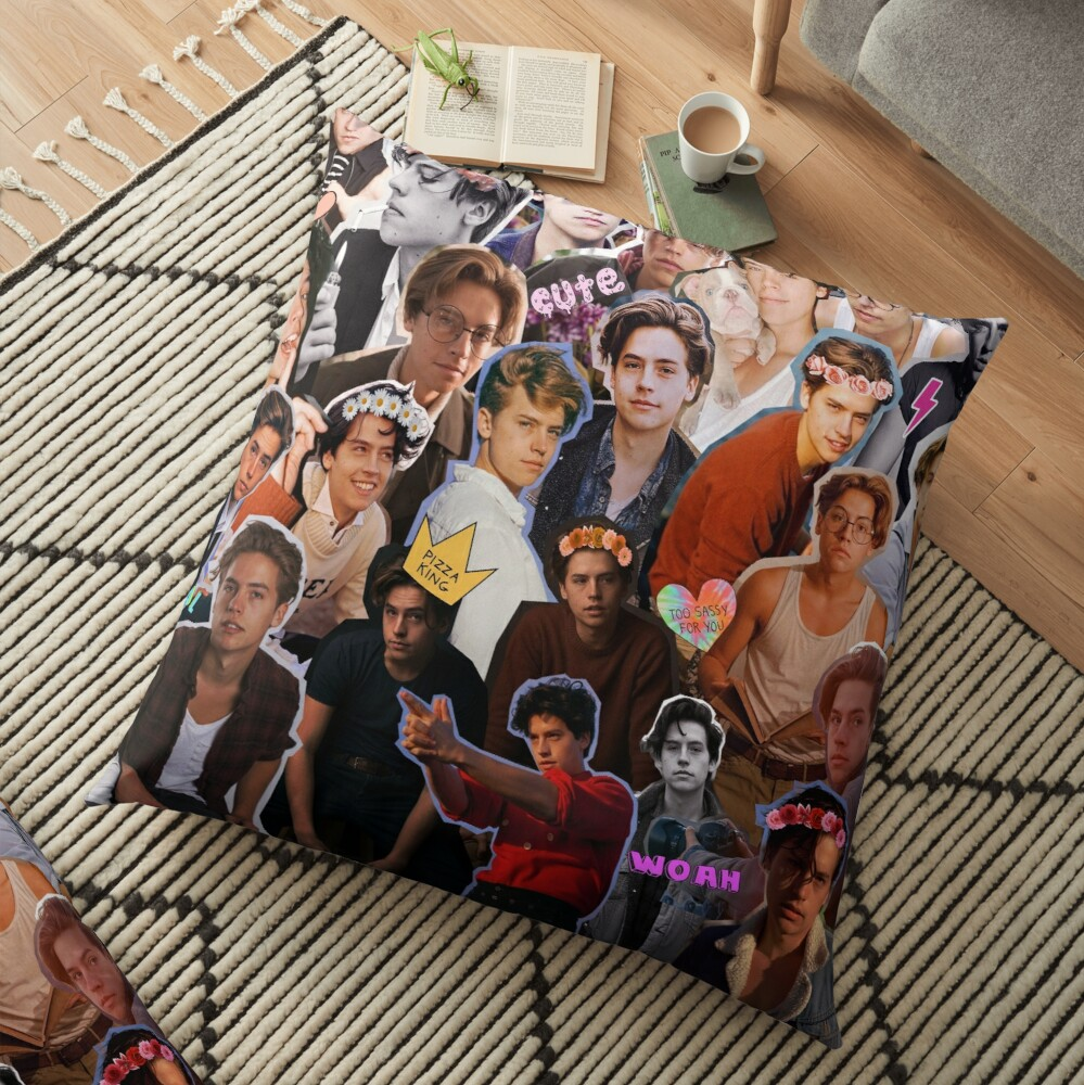 Cole Sprouse Collage Floor Pillow