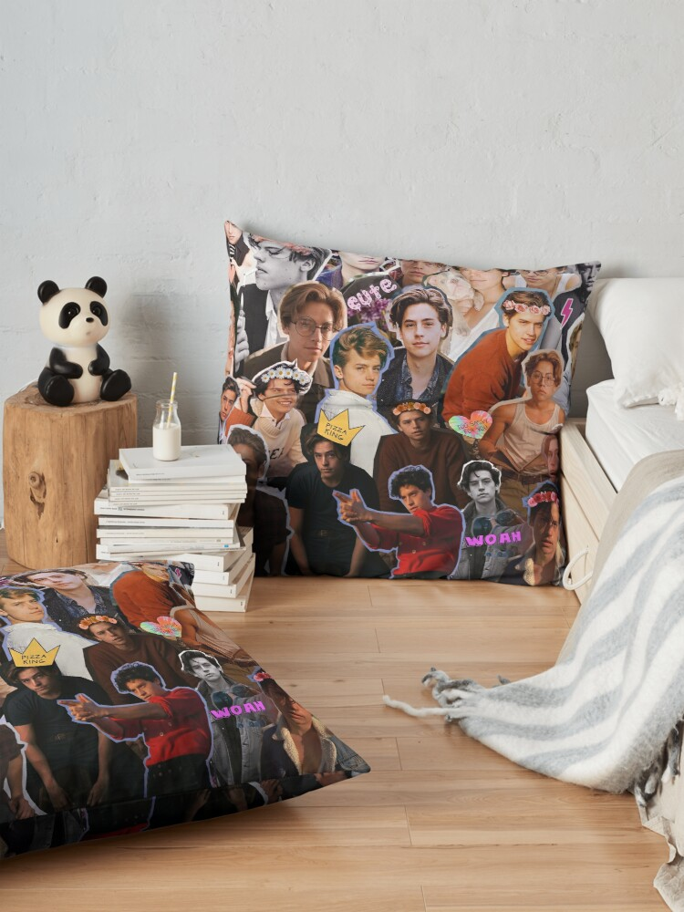 Alternate view of Cole Sprouse Collage Floor Pillow