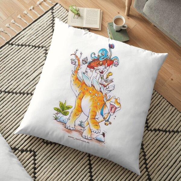 Unlikely Friends II Floor Pillow