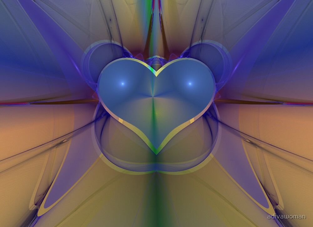 FRACTAL LOVE DIGITAL ART by adivawoman