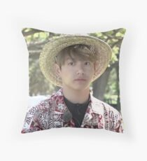 BTS JUNGKOOK HAWAII MEME Throw Pillow