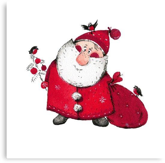 Cute Santa Claus by Natallia Bushuyeva