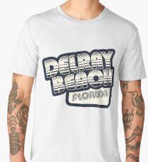 Delray Beach, Florida | Retro Halftone Men's Premium T-Shirt