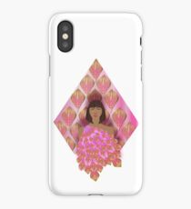 PINK WOMAN PEACOCK. iPhone Case/Skin